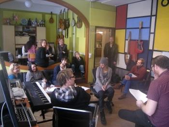Songwriting workshop at tambourine studios