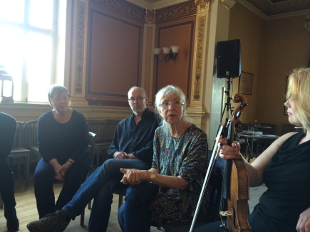 Workshop on the Nordic feministic opera Magnus Maria, with producer Barbro Sundback and director Suzanne Osten